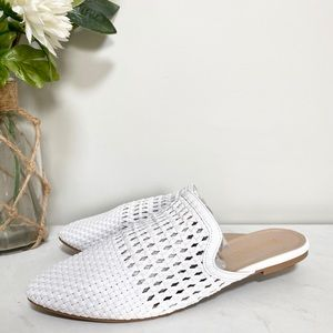 White mesh mules by Restricted